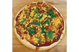 Amerikansk BBQ Chicken-pizza