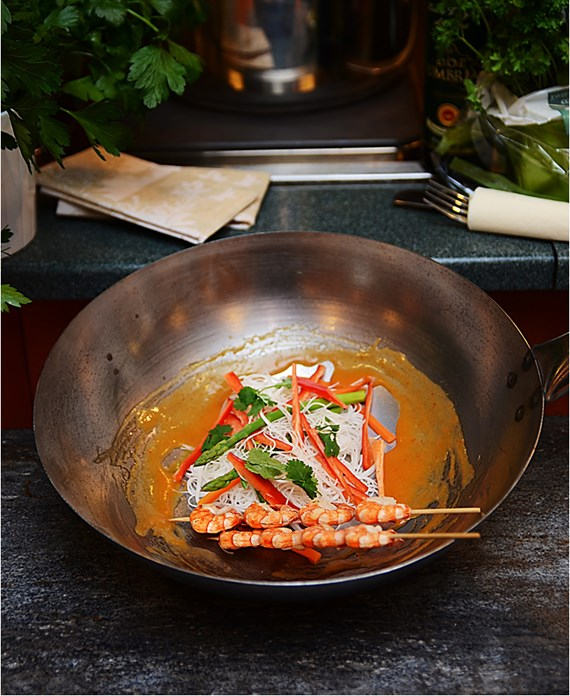 Scampi-spyd & Thai Red Curry med risnudler